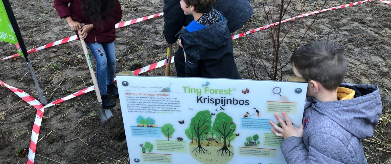 Informatiebord van het Krispijnbos